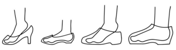大きめの靴