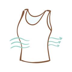 コットン特徴①通気性・吸水性に優れている
