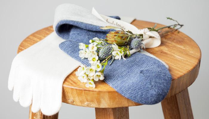 春の幸せ靴下