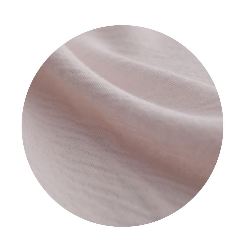 高級綿100%エアリーガーゼニット